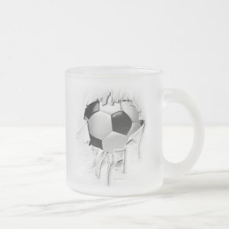 Torn Soccer Frosted Coffee Mug