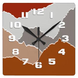 Torn Square Wall Clock