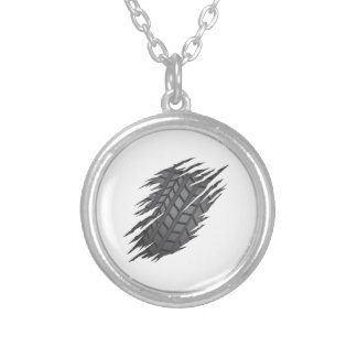 Torn Tyre Silver Plated Necklace