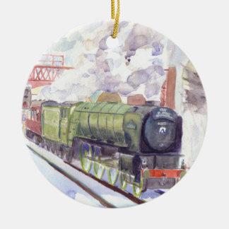 Tornado Christmas Bauble Ceramic Ornament