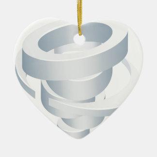 Tornado Cyclone Hurricane Twister 3d Icon Ceramic Ornament