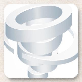 Tornado Cyclone Hurricane Twister 3d Icon Coaster
