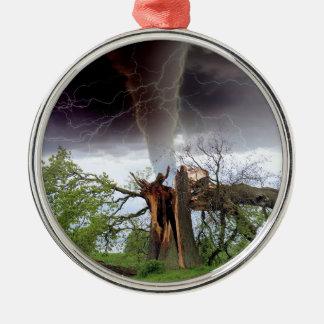 Tornado Metal Ornament