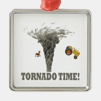 TORNADO TIME METAL ORNAMENT