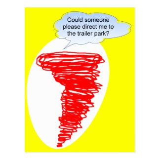 Tornado Trailer Park Postcard