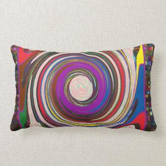 Tornado Whirlwind HighTide Waves colourful art Lumbar Cushion