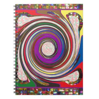 Tornado Whirlwind HighTide Waves colourful art Notebook