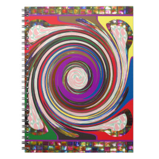 Tornado Whirlwind HighTide Waves colourful art Notebooks