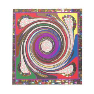 Tornado Whirlwind HighTide Waves colourful art Notepad