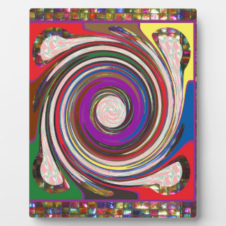 Tornado Whirlwind HighTide Waves colourful art Plaque