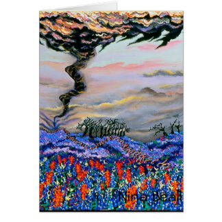 """""""Tornado With Bluebonnets,"""" by Nina Beall Card"""