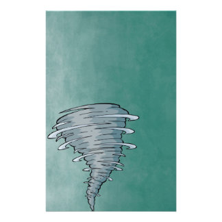 Tornado with Deep Green Background Stationery