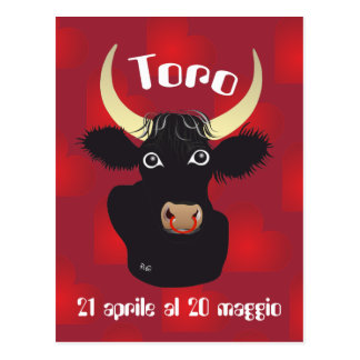 Toro 21 April Al 20 maggio Cartolina Postcard