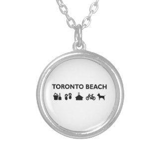 Toronto Beach Icons Monotone Black Silver Plated Necklace