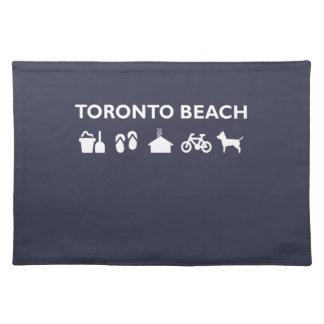 Toronto Beach Icons Monotone Dark Placemat