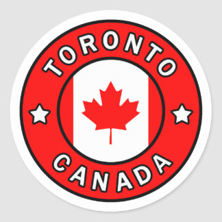 Toronto Canada Classic Round Sticker