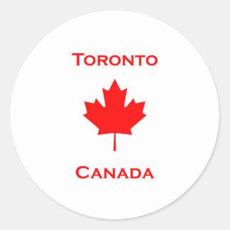 Toronto Canada Maple Leaf Classic Round Sticker