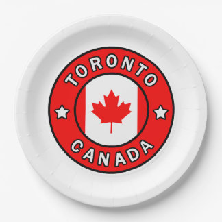 Toronto Canada Paper Plate