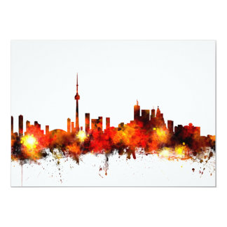 Toronto Canada Skyline 13 Cm X 18 Cm Invitation Card