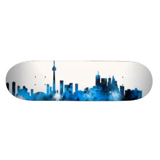 Toronto Canada Skyline 21.3 Cm Mini Skateboard Deck