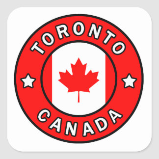 Toronto Canada Square Sticker