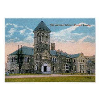 Toronto, Canada, University Library, Vintage Poster