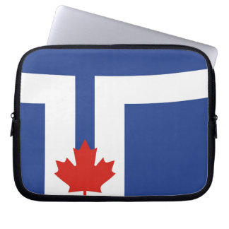 toronto city flag canada country laptop sleeve