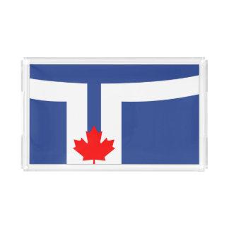 Toronto city flag canada symbol acrylic tray