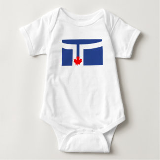 Toronto city flag canada symbol baby bodysuit