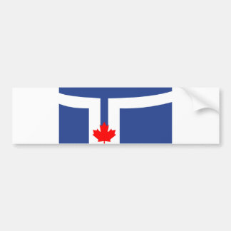 Toronto city flag canada symbol bumper sticker