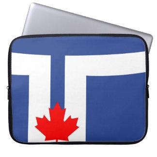 Toronto city flag canada symbol laptop sleeve