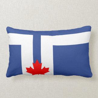 Toronto city flag canada symbol lumbar cushion