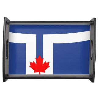 Toronto city flag canada symbol serving tray