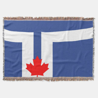 Toronto city flag canada symbol throw blanket