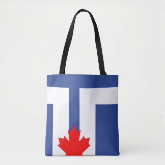 Toronto city flag canada symbol tote bag