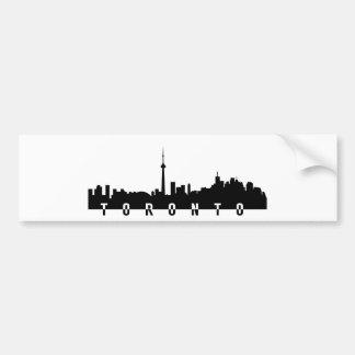toronto cityscape canada city symbol black silhoue bumper sticker