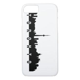 toronto cityscape canada city symbol black silhoue iPhone 7 case