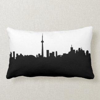 toronto cityscape canada city symbol black silhoue lumbar cushion