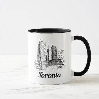Toronto downtown sketch mug