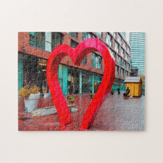 Toronto Heart Distillery District. Jigsaw Puzzle