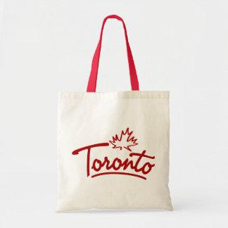 Toronto Leaf Script Canvas Bag