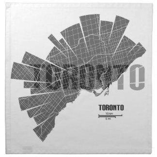 Toronto_Map Napkin