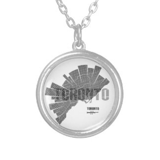 Toronto_Map Silver Plated Necklace
