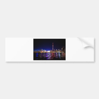 Toronto Night Skyline Bumper Sticker
