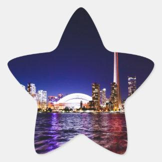 Toronto Night Skyline Star Sticker