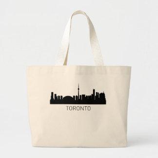 Toronto Ontario Cityscape Large Tote Bag