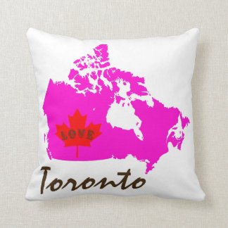 Toronto Ontario Customize Love Canada Province Cushion