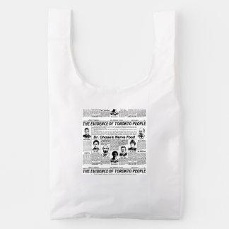 Toronto people vintage newspaper bag baggu reusable bag