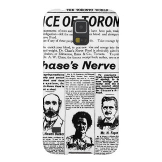 Toronto people vintage newspaper galaxy s5 covers
