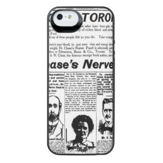 Toronto people vintage newspaper iPhone SE/5/5s battery case